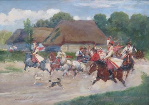 Jerzy Kossak (1886-1955), Wesele Krakowskie, 1933