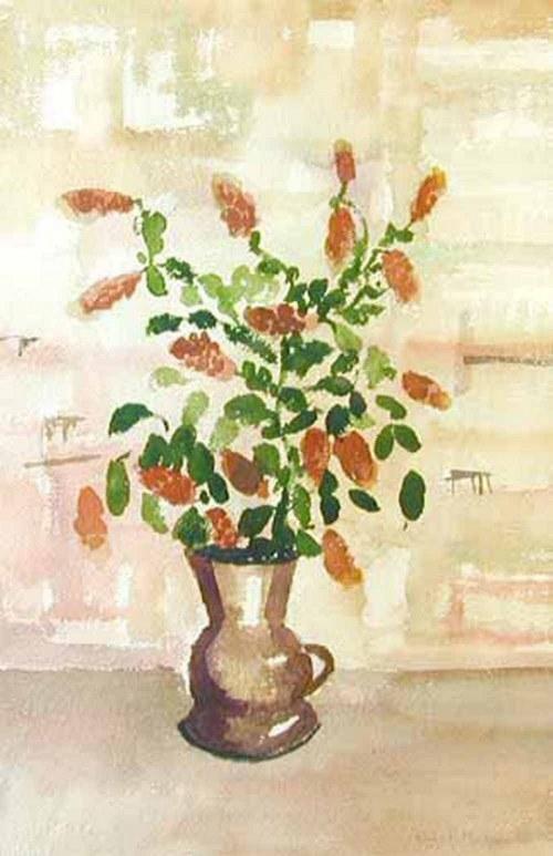 Rafał Malczewski (1892-1965), Kwiaty w dzbanie