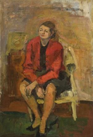 Zygmunt Schreter (1886-1977), Kobieta siedząca na krześle