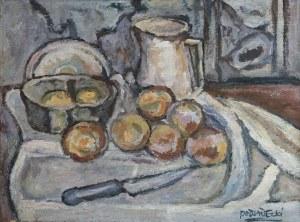 Kazimierz Podsadecki (1904 - 1970), Martwa natura z nożem i owocami