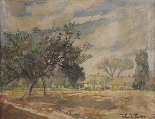 Henryk Krych (1905-1980), Pejzaż ze Złakowa Kościelnego, 1943