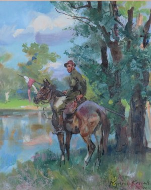 Wojciech Kossak (1856-1942), Na czatach, 1932