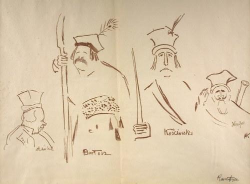Karol Frycz (1877 - 1963), Zelwerowicz, Kotarbiński i Jednowski jako Lichocki, Bartosz, Nicefor oraz Kościuszko w sztuce Anczyca Kościuszko pod Racławicami, 1904