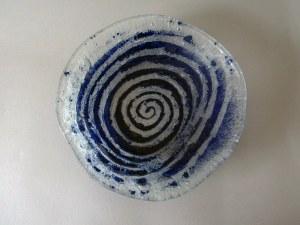 Talerz szklany ozdobny