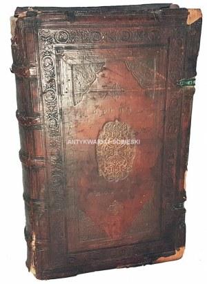 HOZJUSZ - D.STANISLAI HOSII ... OPERA OMNIA, QUORUM CATALOGUM OCTAVA PAGELLA REPERIES wyd. 1571 oprawa krakowska radełkowana