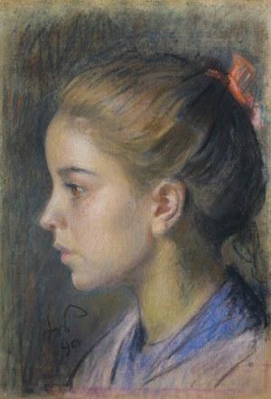 Wyspiański Stanisław, DZIEWCZYNKA Z CZERWONĄ WSTĄŻKĄ WE WŁOSACH, 1890