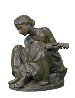 GLICENSTEIN HENRYK, DZIEWCZYNKA Z MANDOLINĄ, 1897