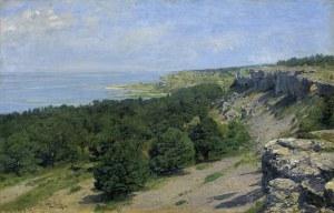 Strützel Otto, PEJZAŻ Z WYBRZEŻA SZWEDZKIEGO, 1892