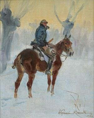 Kossak Wojciech, UŁAN NA ZIMOWYM PATROLU, 1925
