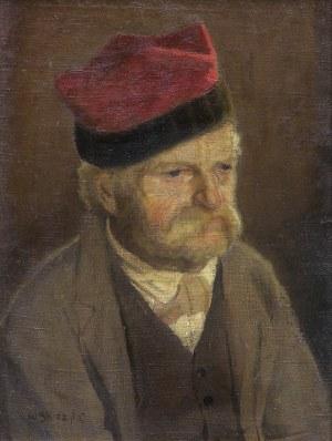 Skoczylas Władysław, PORTRET WETERANA, OK. 1905-1910