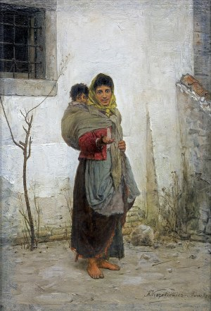Kozakiewicz Antoni, CYGANKA Z DZIECKIEM, OK. 1889