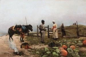 Wywiórski Michał Gorstkin, POŻEGNANIE KOZAKA Z DZIEWCZYNĄ, 1886