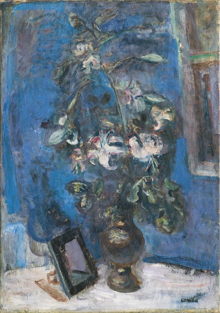 Kanelba Rajmund, MARTWA NATURA Z KWIATAMI I GRZEBIENIEM, 1932