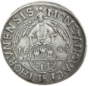 Jan II Kazimierz, ort 1663, Toruń, rzadki