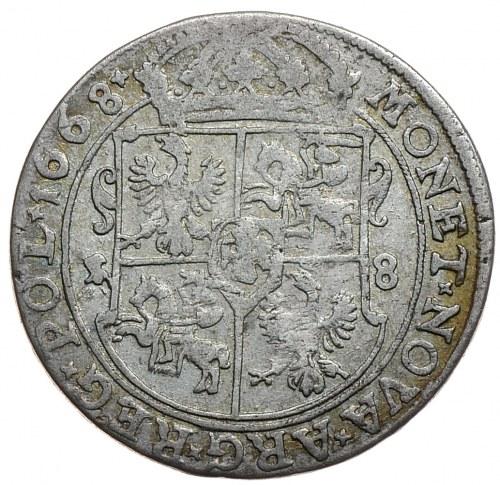 Jan II Kazimierz, ort 1668 TLB, Bydgoszcz, błąd w imieniu władcy CASIMR