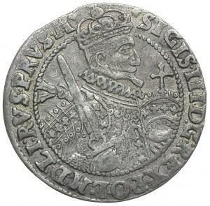 Zygmunt III Waza, ort 1623, Bydgoszcz PRVS:M+, rzadkie ozdobniki (R1)