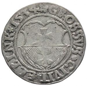 Zygmunt I Stary, grosz 1534, Elbląg (R2)
