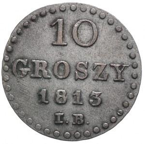 Księstwo Warszawskie, Fryderyk August I, 10 groszy 1813