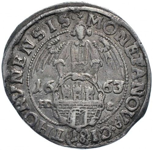 Jan II Kazimierz, ort 1663, Toruń, szeroki łańcuch, Order Św. Ducha (R5)