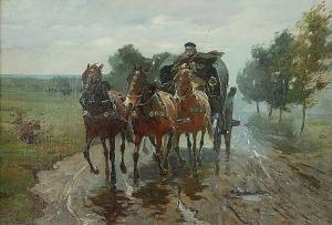 Czesław WASILEWSKI (ok. 1875-1946/47), Jazda do miasta, ok. 1930