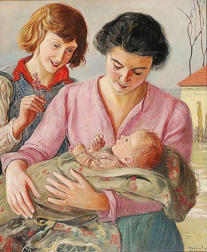 Wlastimil HOFMAN (1881-1970), Szczęśliwa matka, 1939
