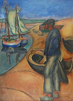 Henryk HAYDEN (1883-1970), Rybak z Le Pouldu, 1911