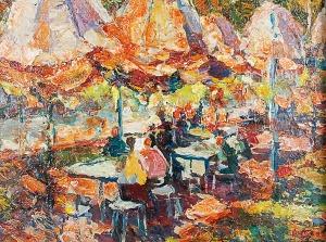 Albin AMELIN (1902-1975), Pod parasolami