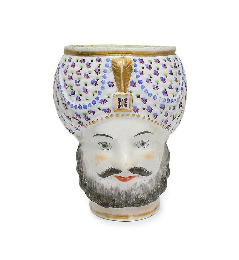 Kubek w kształcie głowy Turka