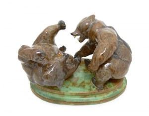 Figura bawiących się niedźwiadków