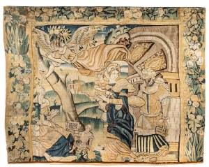 Tapiseria ze sceną z życia Abrahama i Sary