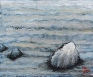 Elżbieta BANECKA (ur. 1965), Fragment ogrodu z Ryonaji z Kyoto, 2018