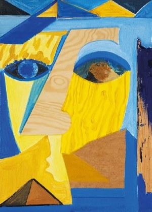 Jan MIODUSZEWSKI (ur. 1974), Egipt pod Halą Mirowską, z cyklu: Maski i twarze, 2018