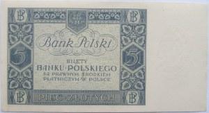Polska, II RP, 5 złotych 1930, seria BO - UNC