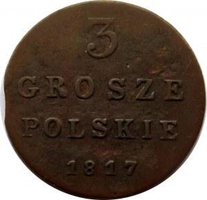 Aleksander I, 3 grosze 1817 I.B., Warszawa