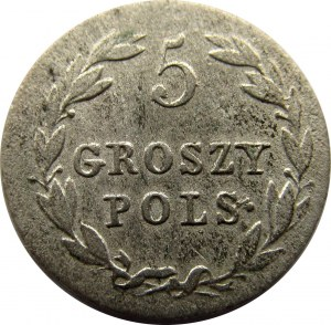 Aleksander I, 5 groszy 1818 I.B., Warszawa