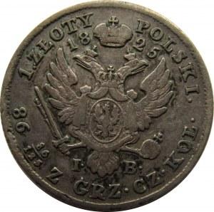 Aleksander I, 1 złoty 1825 I.B., Warszawa - rzadki