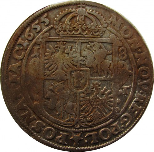 Jan II Kazimierz, ort 1655 A-T, Poznań