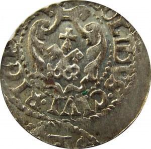 Zygmunt III Waza, szeląg, ucięta data, Ryga