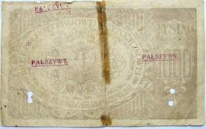 Polska - II RP, 1000 marek 1919, seria ZG, FALSYFIKAT