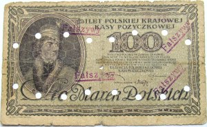 Polska - II RP, 100 marek 1919, bez serii, FALSYFIKAT