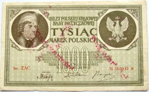 Polska - II RP, 1000 marek 1919, seria ZAC, FALSYFIKAT