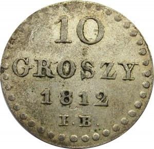 Księstwo Warszawskie, 10 groszy 1812 I.B.