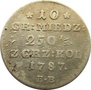 Stanisław A. Poniatowski, 10 groszy miedzianych 1787 E.B.