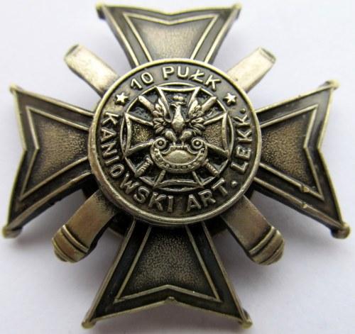 Polska, II RP, Odznaka 10 Kaniowski Pułk Artylerii Lekkiej