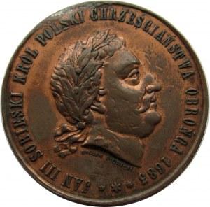 Polska, medal-pamiątka obchodów 200-lecia oswobodzenia Wiednia w 1683, syg. W. Głowacki, 1883