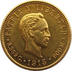 Kuba, I Republika (1902-1925), 5 pesos 1915, złoto