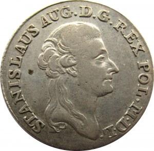Stanisław A. Poniatowski, 4 grosze srebrne (złotówka) 1787 E.B.