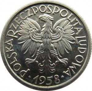 Polska, PRL, Jagody, 2 złote 1958, UNC