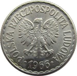 Polska, PRL, 1 złoty 1966, UNC