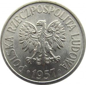 Polska, PRL, 50 groszy 1957, UNC